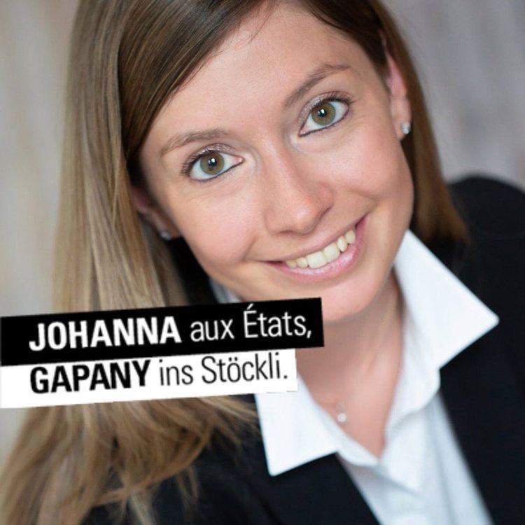 Eidgenösissche Wahlen - Johanna Gapany in den Ständerat für eine Erneuerung